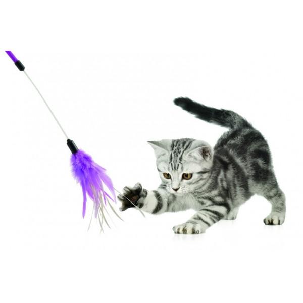 Je connais peu de chats qui peuvent résister à l'attrait du fameux gogosse au boutte d'un bâton.